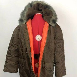 COLD WEATHER N-3B PARKA FUR-LINED HOODED JACKET